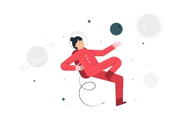 Astronaut konzept illustration