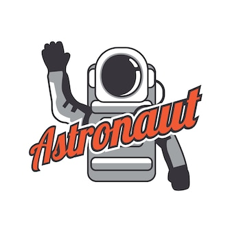 Astronaut maskottchen logo.