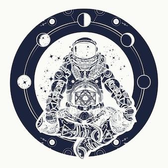 Astronaut und universum