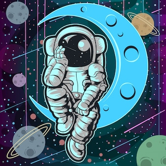 Astronaut vollfarbe