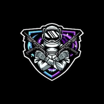 Astronaut war logo