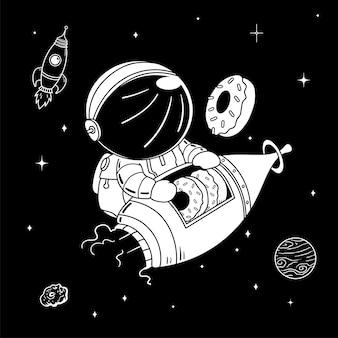 Astronauten donuts
