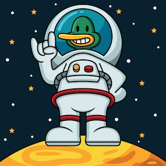 Astronauten-enten-symbol-illustration