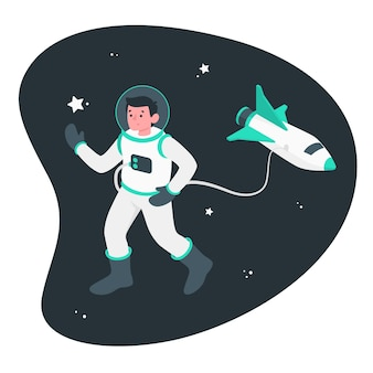 Astronauten-illustration-konzept