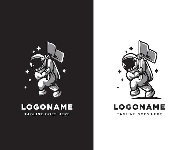 Astronauten-logo-charakter-design