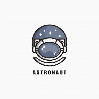 Astronauten-logo-schablonendesign. illustration. abstrakte astronauten-web-symbole und -logo.