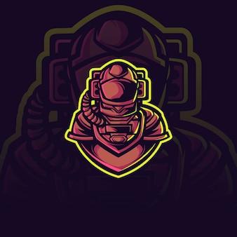 Astronauten-maskottchen-illustration