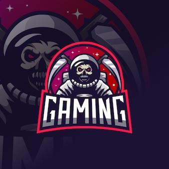 Astronauten-schädel-reaper-esport-logo