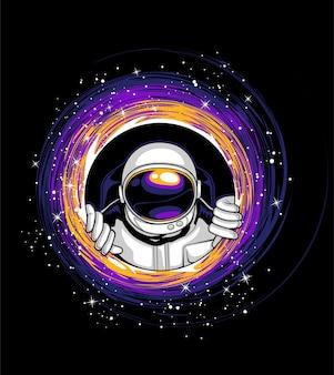 Astronauten und schwarze löcher
