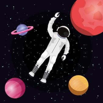 Astronauten- und weltraumdesign
