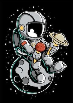 Astronauteneis Premium Vektoren