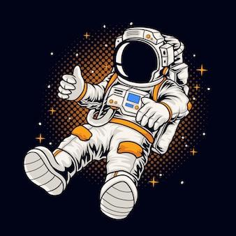 Astronautenjungenillustration