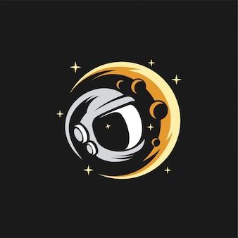 Astronautenkopf logo design illustration