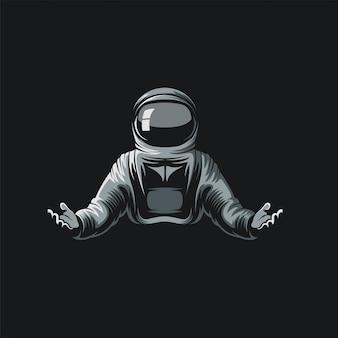 Astronautenlogoillustration