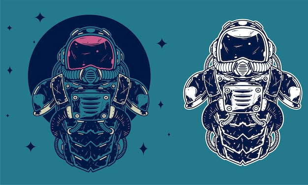 Astronautenschadensanzug