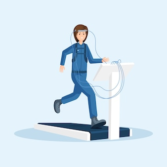 Astronautentraining flach