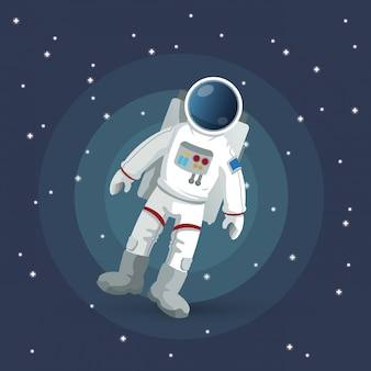 Astronautenzeichen. raumkonzept. kosmos