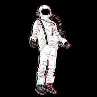Astronomie menschliche raumlinie kunst