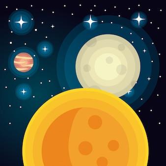 Astronomie-solarplaneten isoliert