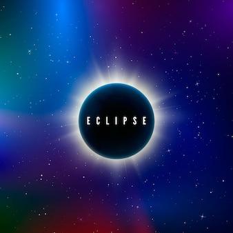 Astronomieeffekt - sonnenfinsternis