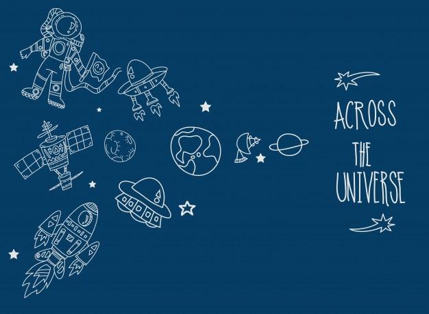 Astronomische raumschiffe stationen und planeten