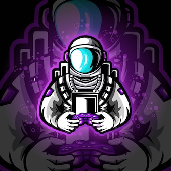 Astronout e sport logo gaming