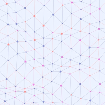 Asymmetrische verbundene punkte färbten hintergrund