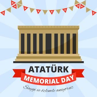 Atatürk-gedenktag des flachen entwurfs