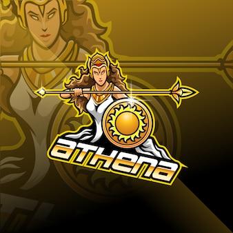 Athena esport maskottchen logo design