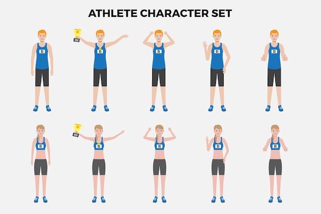Athlet illustration set