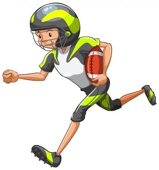 Athlet macht isoliert