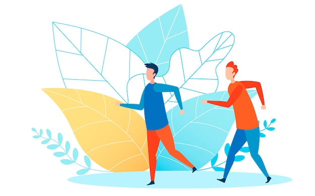 Athletische ereignis-läufer-flache vektor-illustration