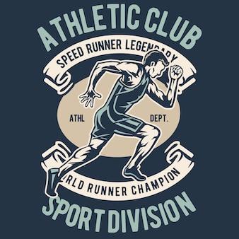 Athletischer läufer