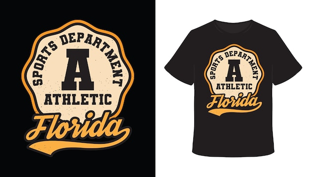 Athletisches florida-typografie-t-shirt-design