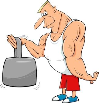Athletkarikaturillustration des starken mannes