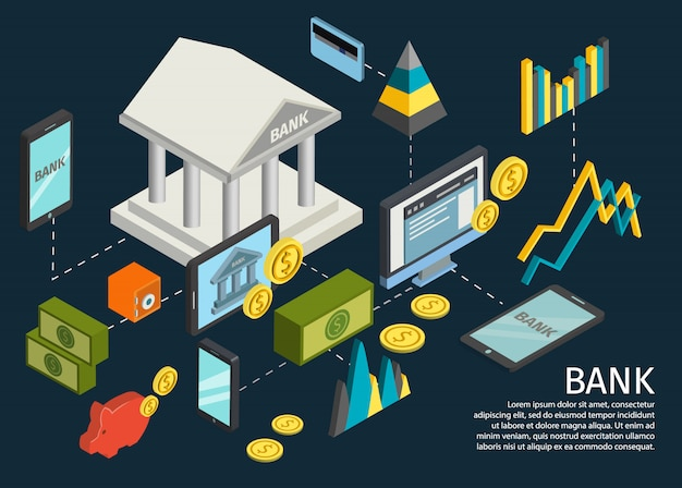 Atm hands isometric poster