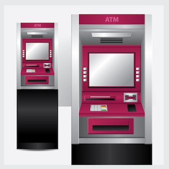 Atm illustration geldautomat