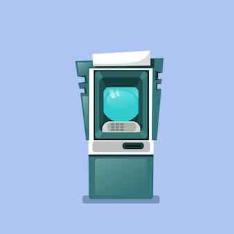Atm-maschinen-ikone lokalisiertes terminal für bargeldbezug