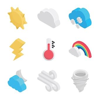 Atmosphärische bedingungen icons