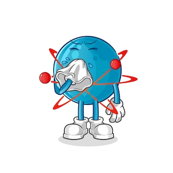 Atom blasnasenillustration