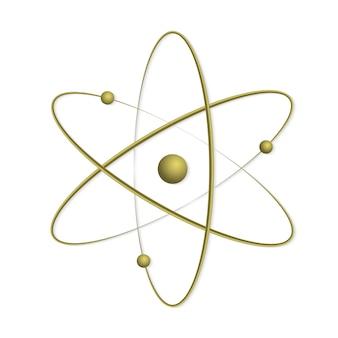 Atom orbit symbol symbol.