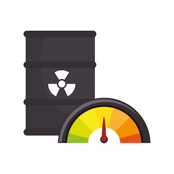 Atombehälter lokalisiertes ikonenvektor-illustrationsdesign