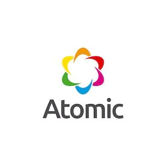 Atomisches symbol logo