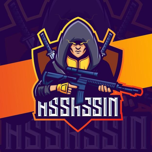 Attentäter maskottchen esport logo design