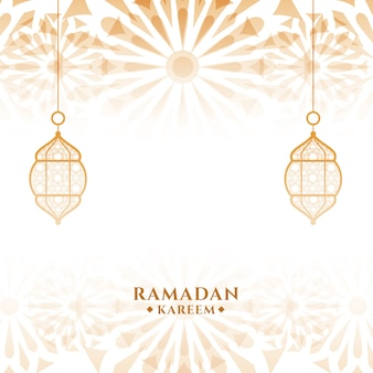 Attraktive islamische festivalkarte ramadan kareem