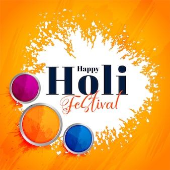 Attraktiver hintergrund des indischen glücklichen holi festivals