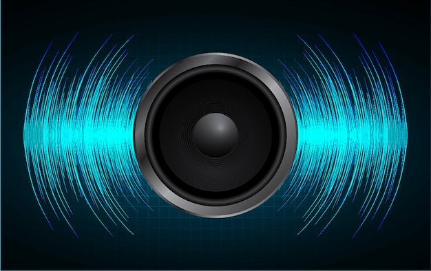 Audio-lautsprecher und schallwelle