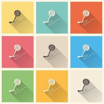 Audio-mikrofon-icon-darstellung, musikmuster. kreatives und luxuriöses cover