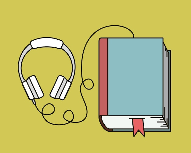 Audiobuch lokalisiertes ikonenvektor-illustrationsdesign