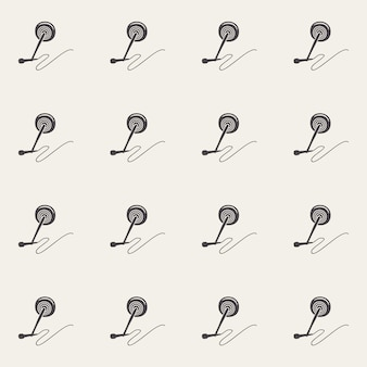Audiomikrofonmuster, musikillustration. kreatives und luxuriöses cover